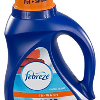 Febreze In-Wash Laundry Odor Eliminator, Fresh Scent, 50 Fluid Ounce (Pack of 2)