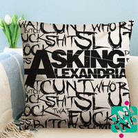 Asking Alexandria Quotes Zippered Pillow Case, Cushion Case, Pillow case