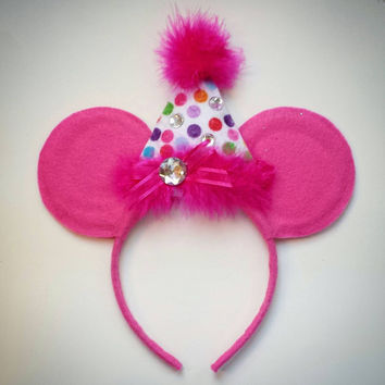 Custom Birthday Hat Mouse Ears Girls & Boys