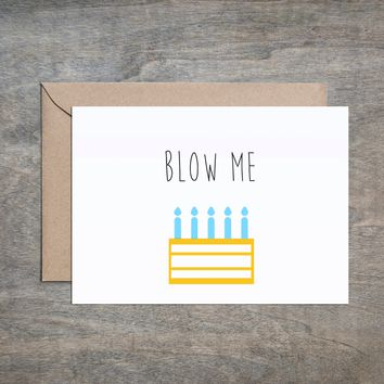 """Blow Me"" Holiday Card"