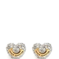 Gold Pave Heart Stud Earring by Juicy Couture,