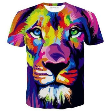 WATERCOLOR LION T-SHIRT