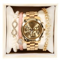Gold Love Watch Set