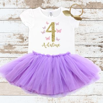 Custom Butterfly 4 Tutu Outfit