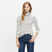 Slim Turtleneck Top in Cento Stripe
