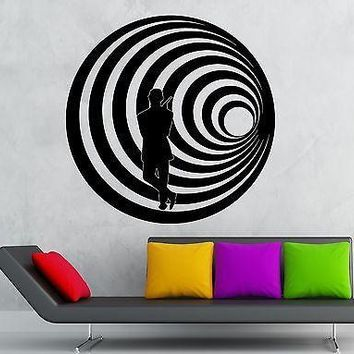 Wall Stickers Vinyl Decal James Bond Agent Killer Spy MI6 CIA Unique Gift (ig2272)