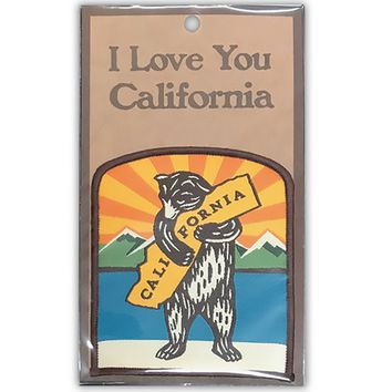 I Love You Califoria Mountain Bear Patch