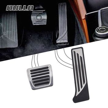 NULLA Stainless Steel Fuel Gas Oil Brake Pedal Pad Accelerator Pedals Pads For Alfa Romeo Giulia Stelvio Car Accessories Sticker