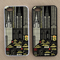 New York City Buildings Hipster iPhone Case, iPhone 5 Case, iPhone 4S Case, iPhone 4 Case