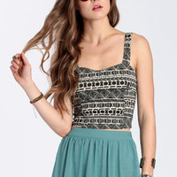 Lylie Tribal Crop Top by John Galt - $46.00: ThreadSence, Women's Indie & Bohemian Clothing, Dresses, & Accessories