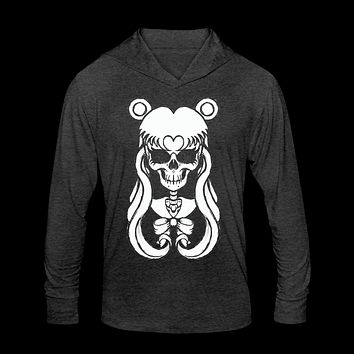 Sailor Moon Skull Unisex Tri-Blend Hoodie Shirt