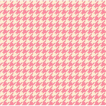 Pink Hounds Tooth Laptop Skin