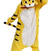 Tiger Pajamas Sleepsuit Kigurumi Onesuit Cartoon Anime Animal Cosplay Homewear Lounge Wear Wo Sleepwear Halloween Gift K107L