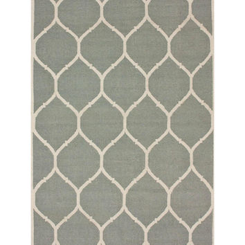 nuLOOM Honeycomb Rug - Light/Pastel Grey