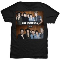 One Direction Four Black T-Shirt - Small