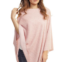 Light Pink Glitter Poncho