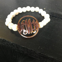 Adorable Stylish Beaded Cut Out Initial Bracelet