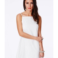 Missguided - Odeta White 90s Strappy Mini Shift Dress