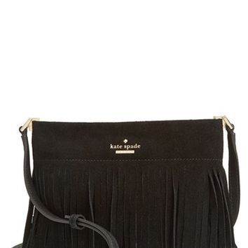 kate spade new york 'sycamore run - cristi' suede fringe crossbody bag