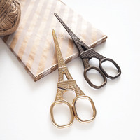 Paris Eiffel Tower Metal Scissors Gold Bronze - 1 piece