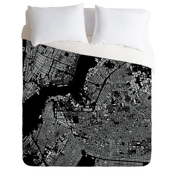 CityFabric Inc Brooklyn Black Duvet Cover