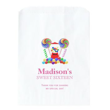 Candyland Candy Theme Sweet 16 Favor Candy Bag