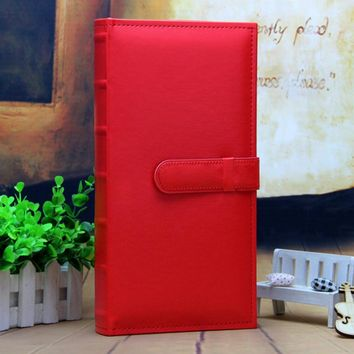 Free shipping 5 inch  Photo Album With PU Leather Cover Interleaf-Type 300 Pockets  For Wedding Lover Sweet Memory Photo Album