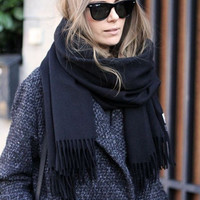 Winter ance lambswool big scarves unisex shawl brand desinger