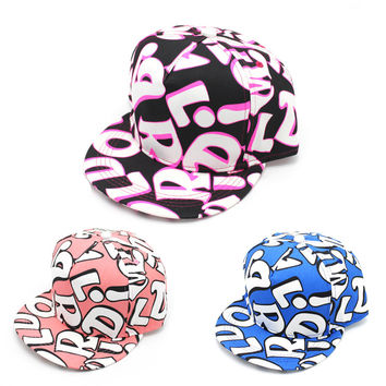 Alphabet Print Hip-hop Summer Cotton Hats [4917656260]