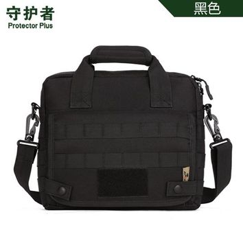 Sports gym bag Protector Plus K309 Outdoor  Camouflage Nylon Tactical Military Messenger Bag Ipad Bag KO_5_1
