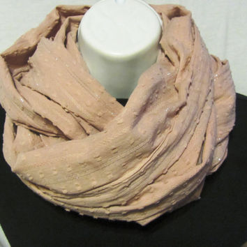 Rose and Silver Infinity Scarf by GBSCreations on Etsy