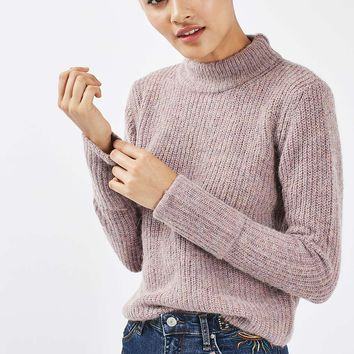 Lofty Turn Back Cuff Jumper | Topshop