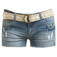 Crochet Belt Short | Shop Bottoms at Wet Seal