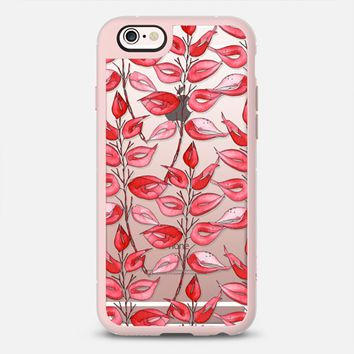 Red leaves by GosiaandHelena iPhone 6s case by GosiaandHelena | Casetify