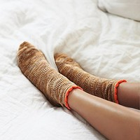Free People Womens Tipping Pointelle Anklet