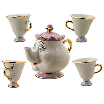 Disney Beauty and the Beast Mrs. Potts Tea Set -- 5-Pc. | Disney Store