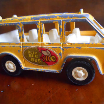1970s Busy Bee Bus Toy Bus by ZoeAmaris on Etsy