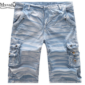 2017 Summer brand Men Casual Camouflage Cargo Shorts mens stander euro size male short pants Washing Multi-Pocket Shorts