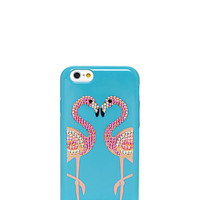 Kate Spade Embellished Flamingos Resin Iphone 6 Case Caribbean Blue