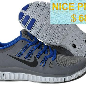 Official Nike Free 50+ EXT Wolf Grey Black Sail Hyper Blue 579959 004 shoes