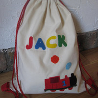 Personalized Drawstring Backpack by GracesFavours on Etsy