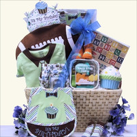 Baby's 1st Birthday Gift Basket - Boy