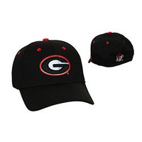 NCAA Officially Licensed Embroidered Georgia Bulldogs Fitted Baseball Hat Cap (M/L)