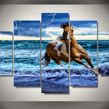 Ocean Gallop 5-Piece Wall Art Canvas