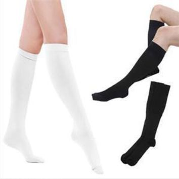 Fashion Warm Opaque Knit Thigh High Socks New Nylon Blend Long Socks White Black Slim Fit Autumn