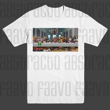 All Star's Nba The Last Supper Michael Jordan Lebron James T Shirt