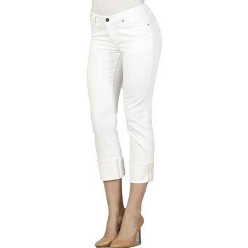 Dear John Denim Playback Cuffed In Optic White