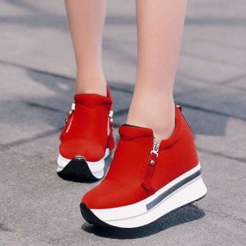 Creepers Slip On Women's Ankle Boots