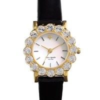 kate spade new york 'belvedere' crystal bezel watch, 24mm