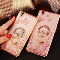 Luxury Rhinestone cover case For OPPO R9 R9s R7 R7S Plus A59 F1s A53 A51T A57 A39 A37 A35 F1 A33 A31T diamond phone cases shell
